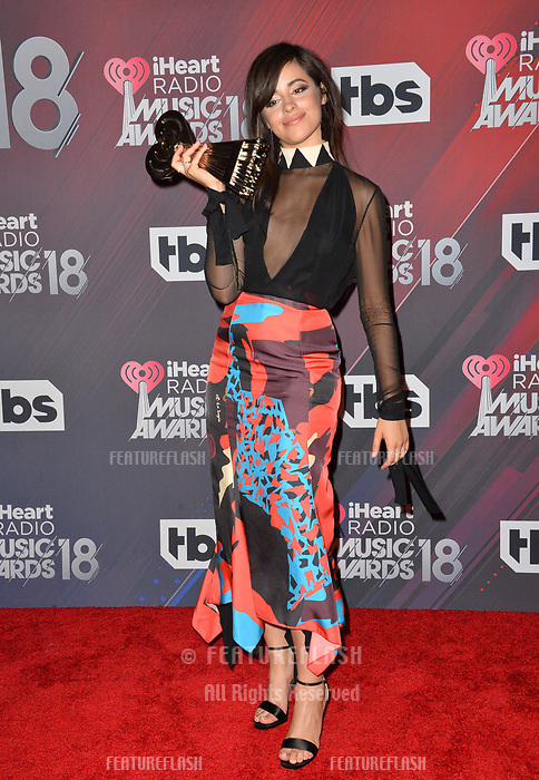 Camila Cabello at the 2018 iHeartRadio Music Awards at The Forum, Los Angeles, USA 11 March 2018<br /> Picture: Paul Smith/Featureflash/SilverHub 0208 004 5359 sales@silverhubmedia.com