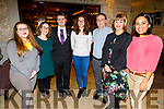 Yelenia Parolin, Ines Pinto, Daniel Griffin (Rose Hotel), Benedetta Milani, Vincenzo Forgione, Michelle King (Rose Hotel) and Ana Magana in the Rose Hotel on Saturday night.