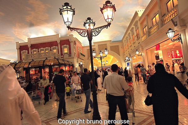 Asie; Golfe Persique; Moyen Orient; Emirat du Qatar; ville de Doha; galerie commerciale Villagio mall//Asia; Persian Gulf; Middle East; Emirate of Qatar; Doha city; Villagio mall shopping Mall