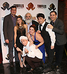 """The cast and creative team during the Epress preview for """"Truffles: Music! Mushroom Murder!!!"""" at Secret Room on November 15, 2019 in New York City."""