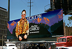 Elton John billbooard on the Sunset Strip in Los Angeles