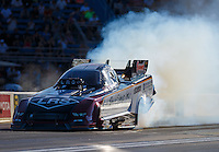 Jul 8, 2016; Joliet, IL, USA; NHRA funny car driver Tim Wilkerson during qualifying for the Route 66 Nationals at Route 66 Raceway. Mandatory Credit: Mark J. Rebilas-USA TODAY Sports
