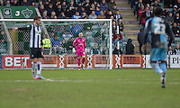 Barry Richardson of Wycombe Wanderers during the Sky Bet League 2 match between Plymouth Argyle and Wycombe Wanderers at Home Park, Plymouth, England on 30 January 2016. Photo by Mark  Hawkins / PRiME Media Images.