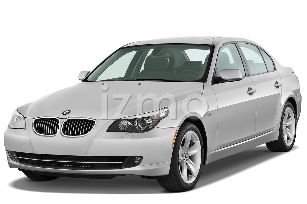 Front three quarter view of a 2009 BMW 5 Series 528.