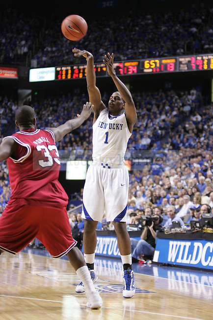 UK sophomore guard Darius Milller attempts a three-point shot against the University of Arkansas at Rupp Arena on Saturday. Photo by Scott Hannigan | Staff