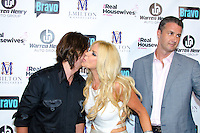 Jonathan Cheban, Alexia Echevarria, and Erik Day attend Real Housewives of Miami Season 3 VIP Premiere Party, at Lou La Vie, Miami, FL, on August 6, 2013