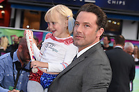"Ben Affleck and fan<br /> arrives for the ""Suicide Squad"" premiere at the Odeon Leicester Square, London.<br /> <br /> <br /> ©Ash Knotek  D3142  03/08/2016"