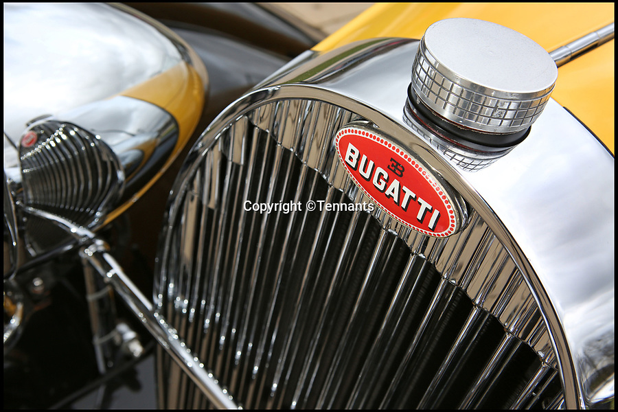 BNPS.co.uk (01202 558833)Pic: Tennants/BNPS<br /> <br /> Marque 1...<br /> <br /> Million Pound Bugatti for sale.<br /> <br /> An incredibly rare vintage Bugatti has emerged for sale for only the second time in 40 years, with experts tipping it to sell for £1,000,000 when it goes under the hammer.<br /> <br /> The Bugatti Type 57 Grand Raid was built in 1935 and was designed by Jean Bugatti, son of founder Ettore Bugatti, who died in 1947.<br /> <br /> Only 739 Type 57s were built between 1934 and 1939, with only ten Grand Raids produced, making it one of the rarest vehicles on the roads today.<br /> <br /> The Grand Raid models was lower, sleeker and sportier than the standard model and it is not known how many survive to this day.