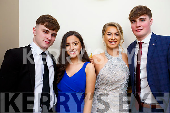 Sean Dowling, Ali Feely, Avril Fitzgerald and Brendan Walsh from Tralee attending the Mercy Mounthawk debs in the Ballyroe Heights Hotel on Thursday night last.