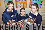 SALES: Students at Scoil Phobail Sliabh Luachra in Rathmore enjoying their German Christmas market last Friday, l-r: Aisling O'Riordan, Meg Crancher, Christine Culloty.