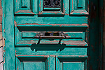 Faded green door, Brussels, Belgium
