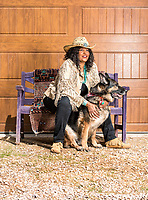 Actress Pam Grier on her ranch in Franktown, Colorado, Monday, April 17, 2017. Grier became famous after starring in blaxploitation films in the early 70s. <br /> <br /> Photo by Matt Nager