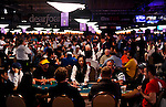 A view of the tables in the Amazon Room during Day 1B of the Main Event.