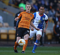 Wolverhampton Wanderers' George Saville and Blackburn Rovers' Elliott Bennett<br /> <br /> Photographer Rachel Holborn/CameraSport<br /> <br /> The EFL Sky Bet Championship - Wolverhampton Wanderers v Blackburn Rovers - Saturday 22nd April 2017 - Molineux - Wolverhampton<br /> <br /> World Copyright &copy; 2017 CameraSport. All rights reserved. 43 Linden Ave. Countesthorpe. Leicester. England. LE8 5PG - Tel: +44 (0) 116 277 4147 - admin@camerasport.com - www.camerasport.com