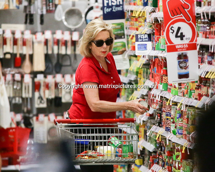 18 FEBRUARY 2018 SYDNEY AUSTRALIA<br /> WWW.MATRIXNEWS.COM.AU<br /> <br /> EXCLUSIVE PICTURES<br /> <br /> Its Buttrose spotted shopping at Coles Sydney, after reports of Co Host Denise Drysdale throwing a Brussel sprout at her.<br /> <br /> <br /> Note: All editorial images subject to the following: For editorial use only. Additional clearance required for commercial, wireless, internet or promotional use.Images may not be altered or modified. Matrix Media Group makes no representations or warranties regarding names, trademarks or logos appearing in the images. 2017 SYDNEY AUSTRALIA<br /> WWW.MATRIXNEWS.COM.AU