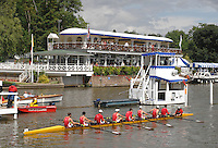 Henley, Great Britain.  Cornell University in a heat of the Temple Challenge Cup, at  Henley Royal Regatta. Henley Reach, England 04.07.2007 [Mandatory credit Peter Spurrier/ Intersport Images]. Rowing Courses, Henley Reach, Henley, ENGLAND . HRR.