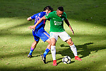 David Lazari of Wofoo Tai Po (L) fights for the ball with Jared Lum of Kitchee SC (L) during the Hong Kong FA Cup final between Kitchee and Wofoo Tai Po at the Hong Kong Stadium on May 26, 2018 in Hong Kong, Hong Kong. Photo by Marcio Rodrigo Machado / Power Sport Images