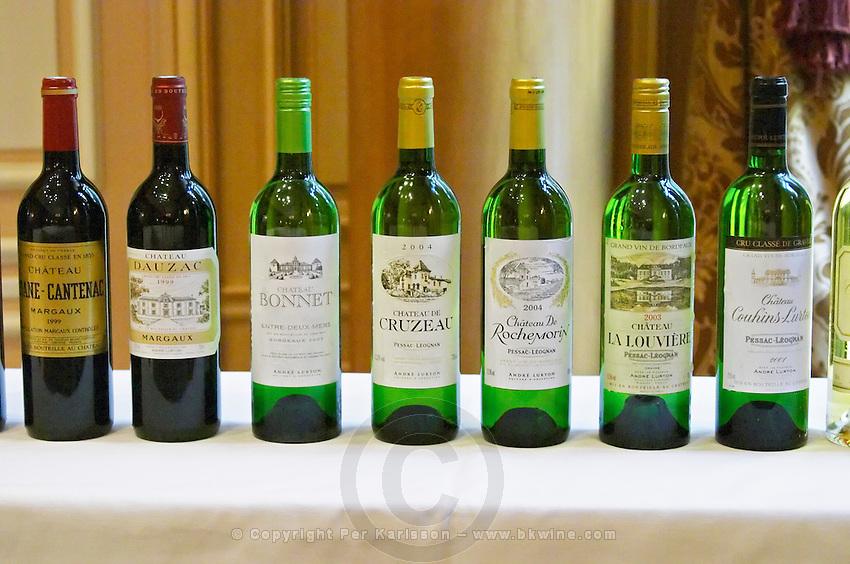 Lurton made wines: Cruzeau, Brane Cantenac, Dauzac, Bonnet, La Louviere... Bordeaux, France