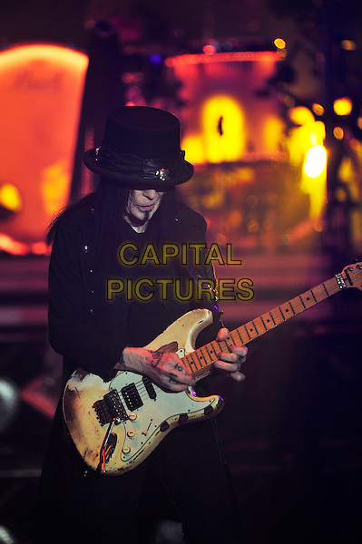 LONDON, ENGLAND - NOVEMBER 6: Mick Mars of 'M&ouml;tley Cr&uuml;e' performing at SSE Arena Wembley on November 6, 2015 in London, England.<br /> CAP/MAR<br /> &copy; Martin Harris/Capital Pictures