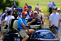 Happy TV Crew during the first round of the Lyoness Open powered by Organic+ played at Diamond Country Club, Atzenbrugg, Austria. 8-11 June 2017.<br /> 08/06/2017.<br /> Picture: Golffile | Phil Inglis<br /> <br /> <br /> All photo usage must carry mandatory copyright credit (&copy; Golffile | Phil Inglis)