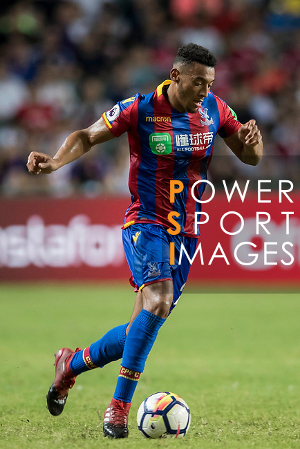Crystal Palace forward Keshi Anderson (L) competes for the ball with Liverpool FC players during the Premier League Asia Trophy match between Liverpool FC and Crystal Palace FC at Hong Kong Stadium on 19 July 2017, in Hong Kong, China. Photo by Yu Chun Christopher Wong / Power Sport Images