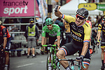 Dylan Groenewegen (NED) Lotto NL-Jumbo wins Stage 21 of the 104th edition of the Tour de France 2017, an individual time trial running 1.3km from Montgeron to Paris Champs-Elysees, France. 23rd July 2017.<br /> Picture: ASO/Thomas Maheux | Cyclefile<br /> <br /> <br /> All photos usage must carry mandatory copyright credit (&copy; Cyclefile | ASO/Thomas Maheux)