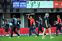 England's Dawid Malan walks off after his innings of 103 during the 4th Twenty20 International cricket match between NZ Black Caps and England at McLean Park in Napier, New Zealand on Friday, 8 November 2019. Photo: Dave Lintott / lintottphoto.co.nz
