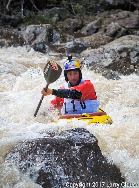 June 8, 2017 - Vail, Colorado, U.S. -  Spain's, Aniol Serrasolses, works his way through Homestake Creek's difficult course in the Steep Creek competition during the GoPro Mountain Games, Vail, Colorado.  Adventure athletes from around the world meet in Vail, Colorado, June 8-11, for America's largest celebration of mountain sports, music, and lifestyle.