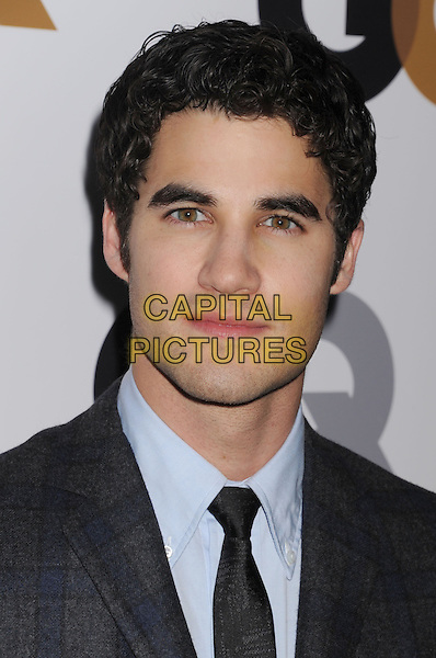 Darren Criss.Arriving at the GQ Men Of The Year Party at Chateau Marmont Hotel in Los Angeles, California, USA..November 13th, 2012.headshot portrait blue shirt grey gray suit tie .CAP/ROT/TM.©Tony Michaels/Roth Stock/Capital Pictures