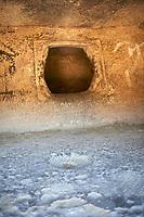 Pictures of Copper age Domus de Janas Sas Concas prhistoric chambered rock burial chambers cared into trachyte ,  Abealzu-Filigosa culture 3000 BC, Oniferi,  province of Nuoro, Sardinia.