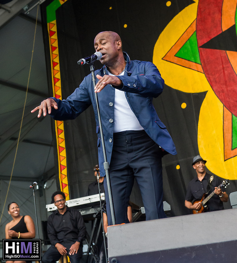 Kem performs at the 2013 Jazz and Heritage Festival in New Orleans, LA on May 2, 2013.  © HIGH ISO Music, LLC / Retna, Ltd.