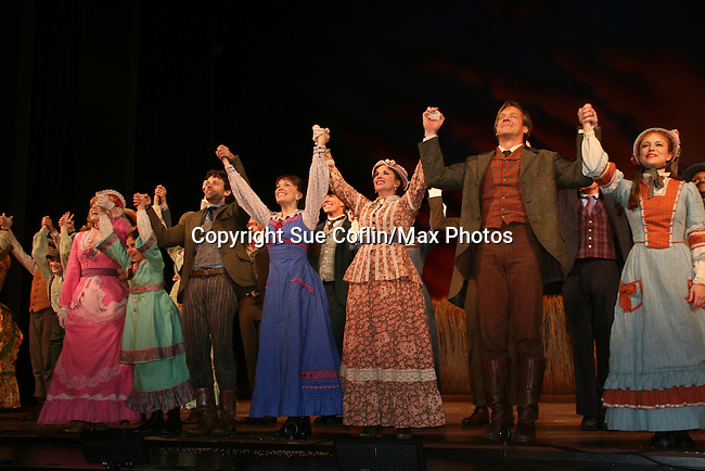 Curtain Call of opening night of Little House on the Prairie - The Musical at the Paper Mill Playhouse's 71st Season as it opens with East Coast Premiere on September 20, 2009 in Millburn, New Jersey. (Photo by Sue Coflin/Max Photos)