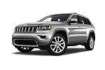 Stock pictures of low aggressive front three quarter view of 2017 JEEP Grand-Cherokee Limited 5 Door SUV Low Aggressive
