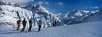 Europe/France/73/Savoie/Val d Isere: les pistes au sommet du telecabine de la Daille 2290 m