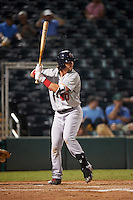Brevard County Manatees designated hitter Clint Coulter (40) at bat during a game against the Fort Myers Miracle on April 13, 2016 at Hammond Stadium in Fort Myers, Florida.  Fort Myers defeated Brevard County 3-0.  (Mike Janes/Four Seam Images)