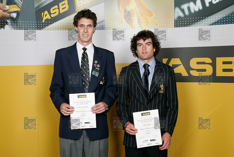 Athletics Boys finalists - Mathew Mildenhall &amp; Alyx Hodgson. ASB College Sport Young Sportsperson of the Year Awards 2006, held at Eden Park on Thursday 16th of November 2006.<br />