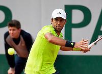 France, Paris, 02.06.2014. Tennis, French Open, Roland Garros,  Fernando Verdasco (ESP)<br /> Photo:Tennisimages/Henk Koster