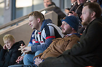 Grimsby fans ahead of the Sky Bet League 2 match between Newport County and Grimsby Town at Rodney Parade, Newport, Wales on 14 February 2017. Photo by Mark  Hawkins / PRiME Media Images.
