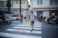 Carlos Betancur (COL/AG2R-LaMondiale) returning from the Giro 2015 Official Team Presentation (in San Remo)