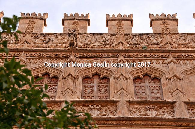 Orange Garden Courtyard of the 15th century mercantile exchange, La Lonja de la Seda; now a UNESCO site and a museum