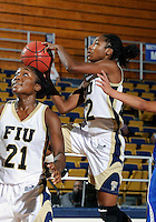 Florida International University guard Jerica Coley (22) plays against Lynn University.  FIU won the game 68-30 on November 30, 2011 at Miami, Florida. .