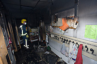 Remains of school after severe fire UK. This image may only be used to portray the subject in a positive manner..©shoutpictures.com..john@shoutpictures.com