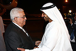 Palestinian President Mahmoud Abbas as he meets the UAE Foreign Minister Sheikh Abdullah bin Zayed in Abu Dhabi on Oct 29, 2009. Photo by Thaer Ganaim