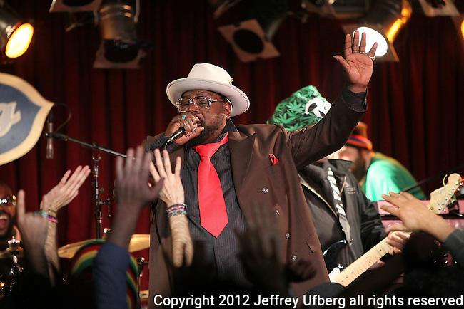 NEW YORK, NY - FEBRUARY 08: Musician George Clinton performs at B.B. King Blues Club & Grill on February 8, 2012 in New York City.