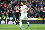 Real Madrid's Karim Benzema celebrates goal during Champions League 2016/2017 Round of 16 1st leg match. February 15,2017. (ALTERPHOTOS/Acero)
