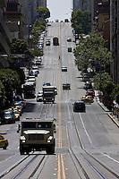 San Francisco, California, Usa, June 26, 2007. Tipica strada di San Francisco