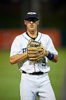 Lakeland Flying Tigers shortstop Cole Peterson (9) before a Florida State League game against the Tampa Tarpons on April 5, 2019 at Publix Field at Joker Marchant Stadium in Lakeland, Florida.  Lakeland defeated Tampa 5-3.  (Mike Janes/Four Seam Images)