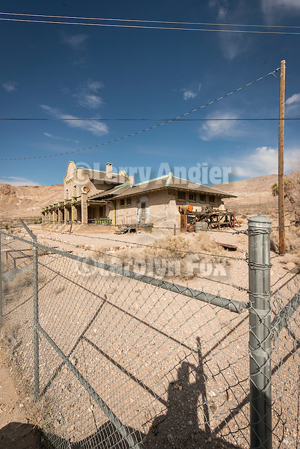 Ghost town of Rhyolite, Nevada<br /> <br /> Las Vegas &amp; Tonopah Railroad station building