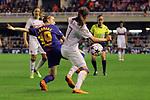 UEFA Women's Champions League 2017/2018.<br /> Quarter Finals.<br /> FC Barcelona vs Olympique Lyonnais: 0-1.<br /> Barbara Latorre vs Amel Majri.