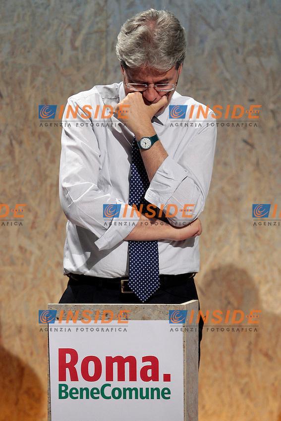 Paolo Gentiloni.Roma 04/04/2013 Confronto televisivo su YouDem dei candidati sindaco del centrosinistra che domenica si sfideranno alle Primarie..Photo Samantha Zucchi Insidefoto